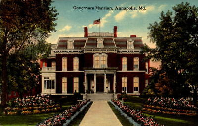 Postcard Governors Mansion Annapolis Maryland