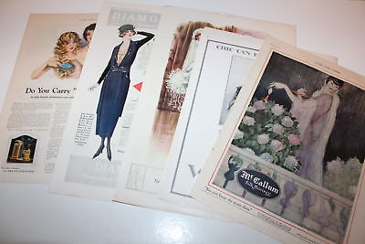 Vintage lot of magazine advertisements Beauty Fashion Clothes 1910s 20s