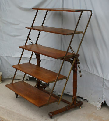 Antique Country Store Display adjustable Bakers Shelf Rack and Table - Unique