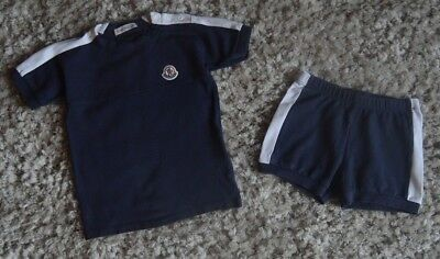 Moncler Baby Boys Designer Clothes T-shirt Shorts 18-24 Months Good