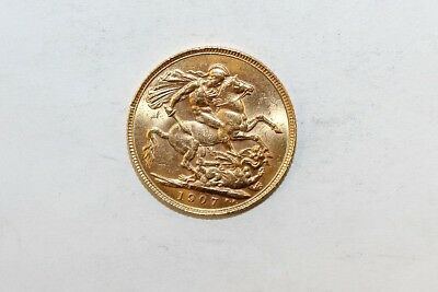 1907 British Sovereign Gold Coin No Reserve