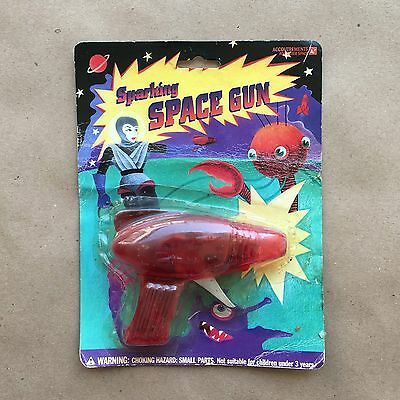 Vintage Space Ray Robot Gun Red New Unopened Working Friction Spark Rare