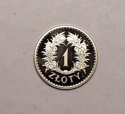 1928 Poland one Zloty restrike silver coin PROOF #3