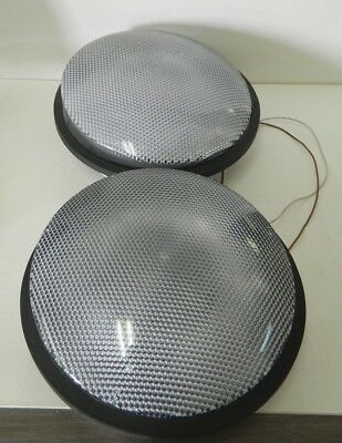 "Lot Of 2 Ge Green Led Traffic Light Signal 12"" Model Dr6-Gcfb-Vla 120V 60Hz"