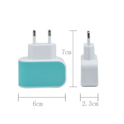 Dual 2 Ports Plug USB 5V 2A Wall Charger Travel Adapter Charger For iPhone7 EU
