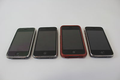 4 Assorted Apple iPhone Touch Screen Display Mobile Cellular Phones Lot (690)