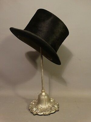 Antique VICTORIAN Era TOP HAT Old DAPPER GENTLEMAN Edwardian STORE DISPLAY STAND