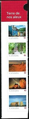 "Canada Sc#??? From Far and Wide Strip of 5 from Booklet of 30 ""P"", Mint-NH"