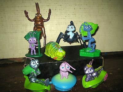 "8 Rare Htf "" Bug's Life "" Collectable Figures Lot , "" Sold As Is """