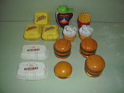 Vintage McDONALD'S McDINO CHANGEABLES FOOD TRANSFORMER ~ Lot of 13