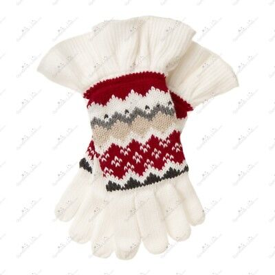 NWT Gymboree Girl's PENGUIN CHALET Fair Isle Gloves Fall Winter Holiday 5-7