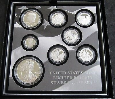 2017 United States Mint Limited Edition Silver Proof Set Box & COA