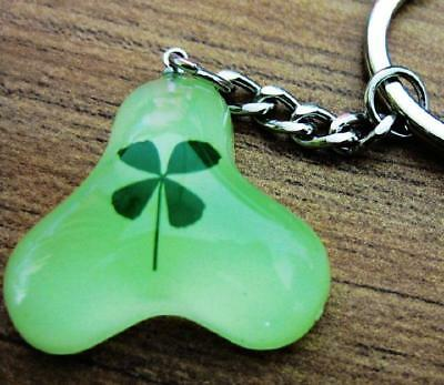 Hot Sale  Four Leaf Clover  Glowing  Drop Mini Cool Design Key-Chains New4