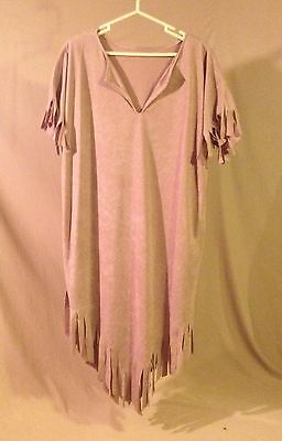 Native American Indian Woman Costume Dress Size Large + Wig And Head Band