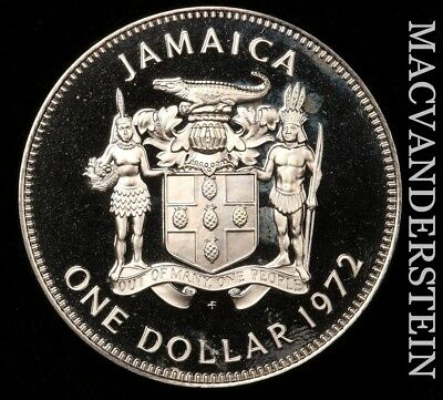 Jamaica: 1972 One Dollar - Proof!!  Better Date!!  No Reserve!!  #x6680