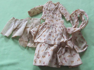 5 piece antique  doll clothes ensemble from early 1900's home made