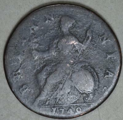 Great Britain 1749 Half Penny