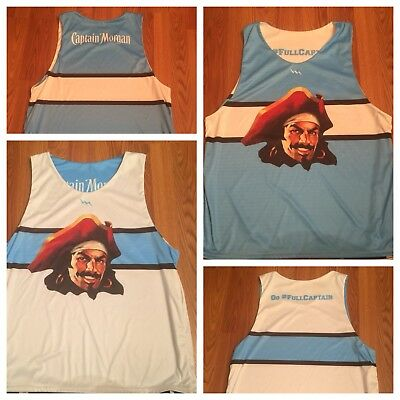 Captain Morgan Rum Reversible Men's Basketball Jersey - Size M/L Tank