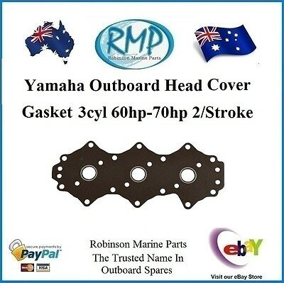 A Brand New Head Cover Gasket Suits Yamaha 60hp-70hp 1984-Thru # 6H3-11193-00
