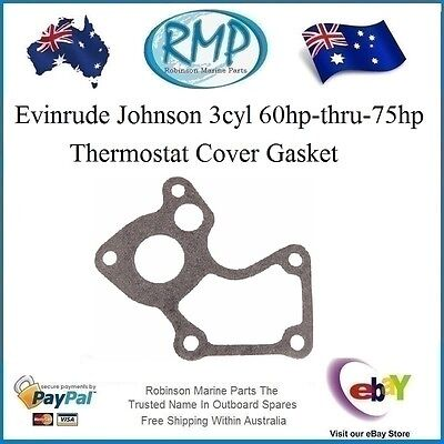 A Brand New Evinrude Johnson 60hp-thru-75hp Thermostat Cover Gasket # 332108