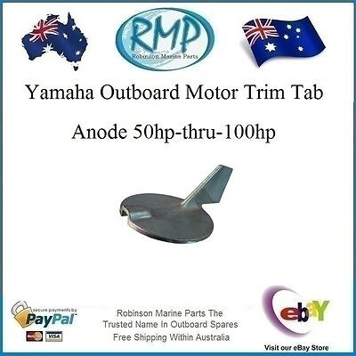 A Brand New Yamaha Outboard Motor Trim Tab Anode 50hp-thru-100hp # 67F-45371-00