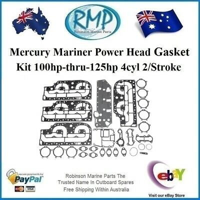 A Brand New Powerhead Gasket Kit Mercury Mariner 100hp-125hp # 27-13461A99