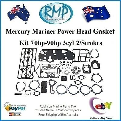 A Brand New Power Head Gasket Kit Mercury Mariner 3cyl 70hp-90hp # 27-43004A99