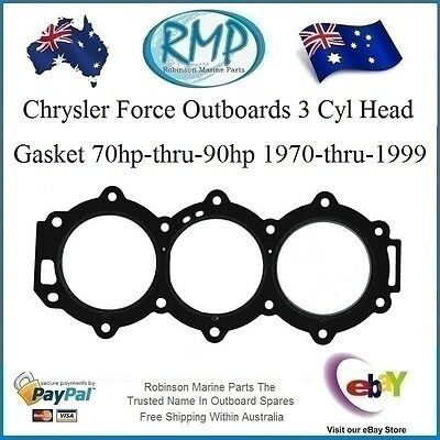 Chrysler Force Outboards 3 Cyl Head Gasket 70hp-thru-90hp 1970-1999 # 27-820438
