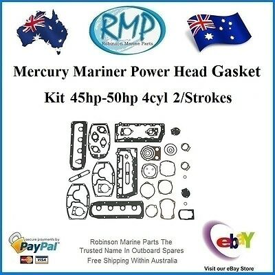 A Brand New Power Head Gasket Kit Mercury Mariner 45hp-50hp 4cyl # 27-72486A32