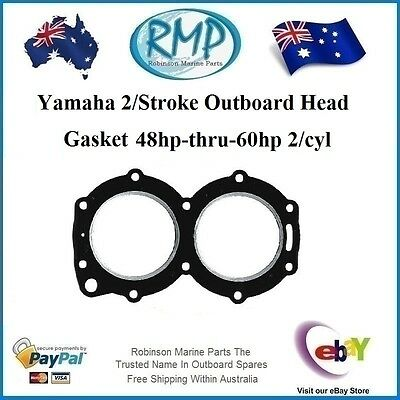 A Brand New Head Gasket Suits Yamaha Outboard 2cyl 48hp-thru-60hp # 697-11181