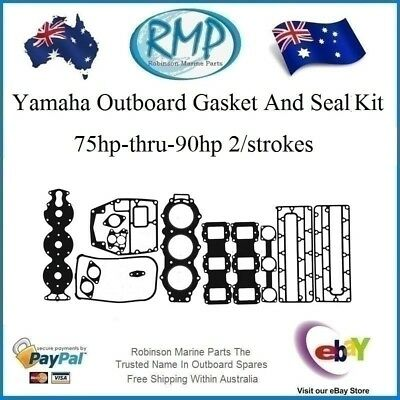 A Brand New Yamaha Outboard Gasket & Seal Kit 75hp-thru-90hp # R 688-W0001-02