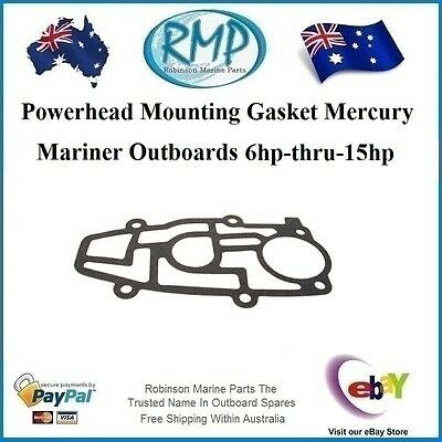 A Brand New Powerhead Mounting Gasket Mercury Mariner 6hp-thru-15hp # 27-19186-1
