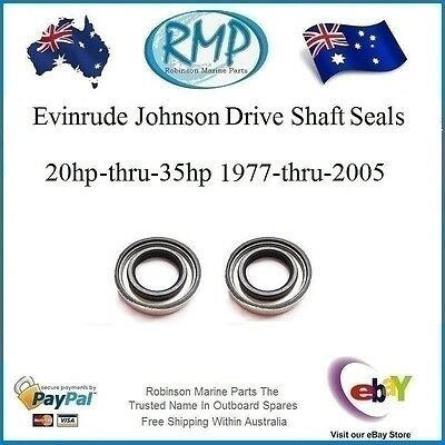 2 x New Evinrude Johnson Drive Shaft Oil Seals 20hp-thru-35hp # 321928