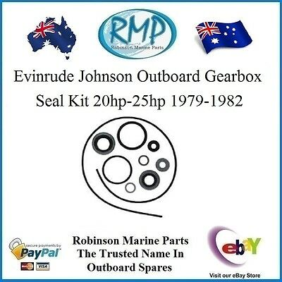 A Brand Gearbox Seal Kit Suits Evinrude Johnson 20hp-25hp 1979-1982 # 87619