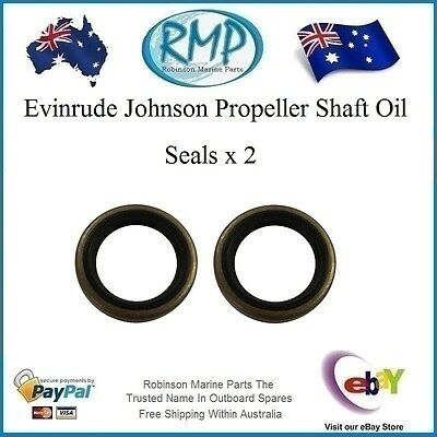 2 x Evinrude Johnson Propeller Shaft Oil Seals 20hp-35hp 1976-Thru-2005 # 321453