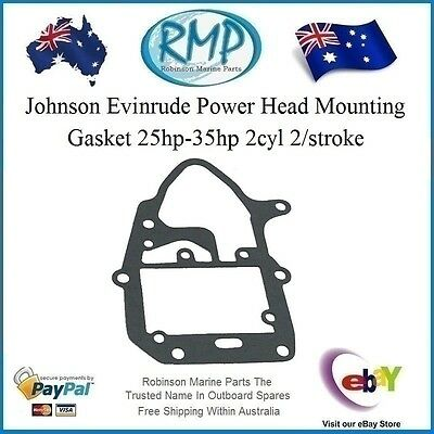 A Brand New Power Head Mounting Gasket Johnson Ev​inrude 25hp-35hp # 319710