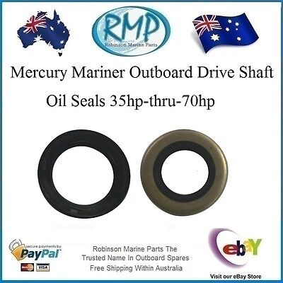 2 x Drive Shaft Oil Seals Mercury Mariner 35hp-thru-70hp # 26-90562 / 26-79831