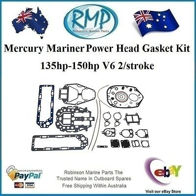 A Brand New Power Head Gasket Kit Mercury Mariner 135hp-150hp # 27-814754A00