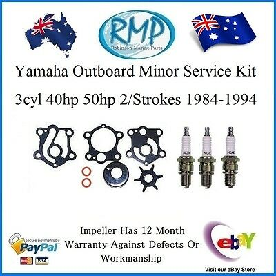 A Brand New Yamaha Water Pump Kit 3 x S/Plugs 40hp-50hp 3Cyl # R 6H4-W0078-00