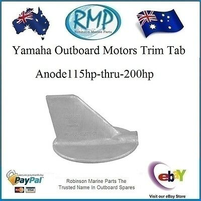 A Brand New Trim Tab Anode Yamaha Outboard Motors  115hp-thru-200hp # CDZ9-41
