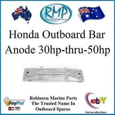 A Brand New Aftermarket Honda Outboard Bar Anode 30hp-thru-50hp  # 06411-ZV5-000