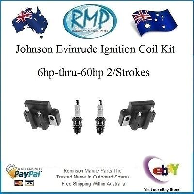 A Brand New Ignition Coil Kit Johnson Evinrude 6hp-thru-60hp # R 584561