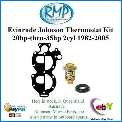 A New Evinrude Johnson Thermostat Kit 2cyl 20hp-thru-35hp 1982-2005 # 327674KIT