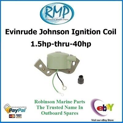 A Brand New Ignition Coil Suits Johnson Evinrude 1.5hp-thru-40hp # 584477