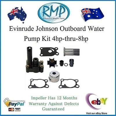 A Brand New Water Pump Kit Evinrude Johnson 4hp-thru-8hp 1980-thru-2002  # 12065