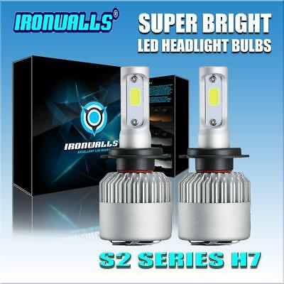 2xLED Headlight H7 Beam Bulbs For Volkswagen VW Jetta 2005-2017 Passat 1998-2017