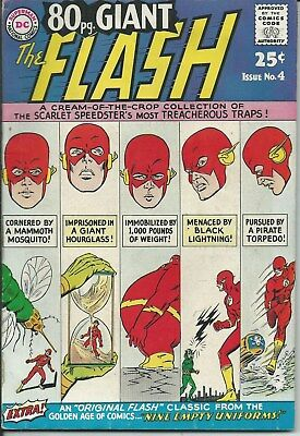 Dc Comics No Reserve Sale: The Flash 80 Page No. 4 (1964) In Good/vg. Cond.