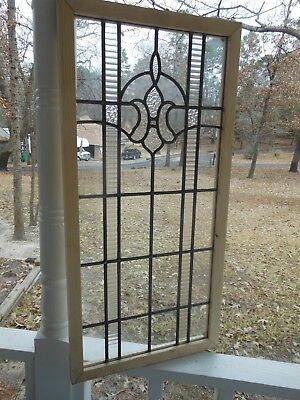 V-304A Lovely Leaded Glass Window From England Reframed   2 Available