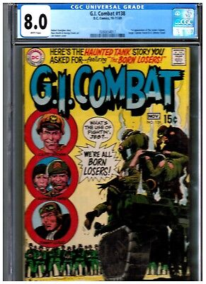 Gi Combat #138 Cgc 8.0 Blue First Appearance Of The Losers