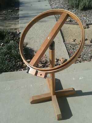 Vintage NORWOOD Large Adj Floor Model Hoop Embroidery Needlepoint Quilting Stand